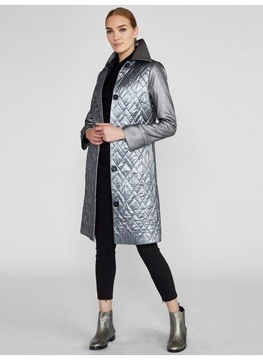 Vekem-Limited Edition Palto Gümüş